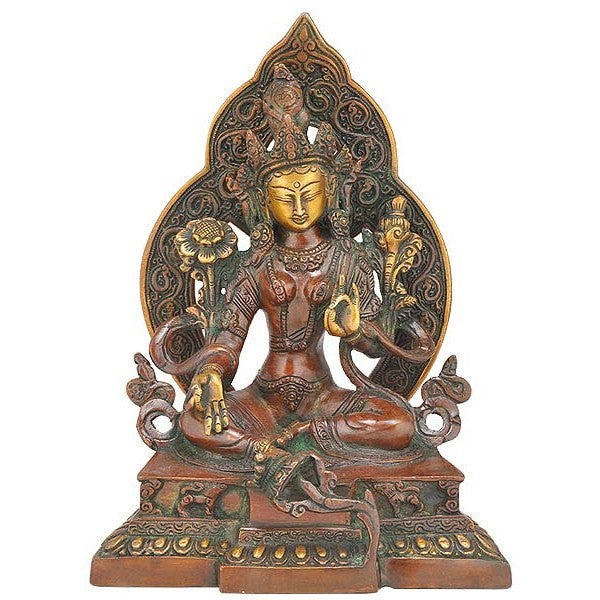 Beautiful Goddess Tara - Brass Sculpture