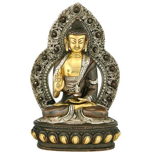 Messenger of Peace 'Lord Buddha' - Brass Statue