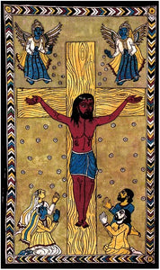 Crucifixion of Christ - Kalamkari Painting