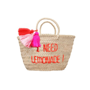 Basket Pompon I need lemonade !