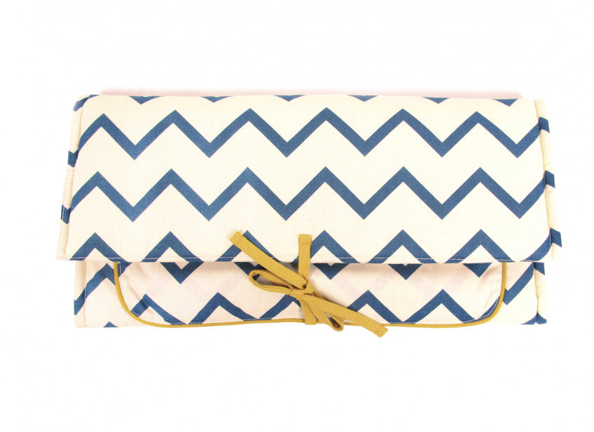 Berlin changing pad zigzag blue
