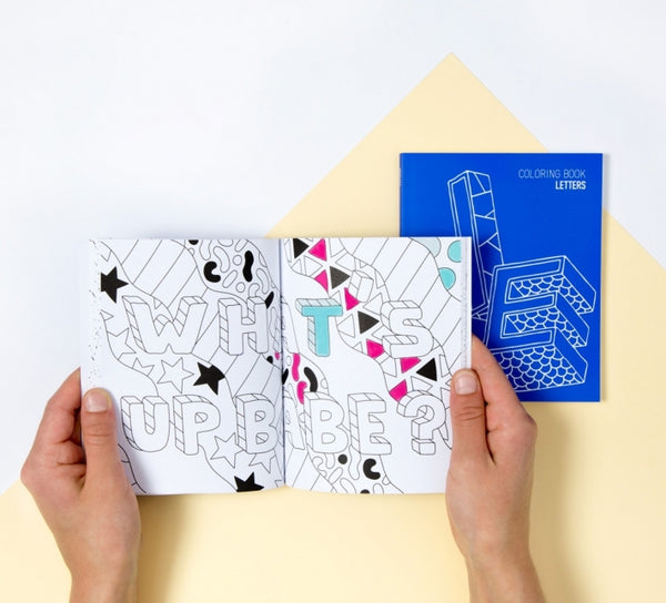 Note & Coloring book - Letters