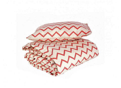 Toronto duvet zig zag pink - single bed
