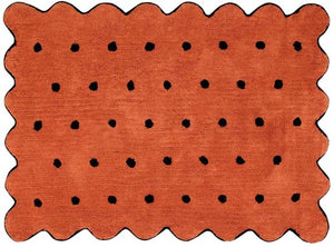 Washable Rug Biscuit Terracotta