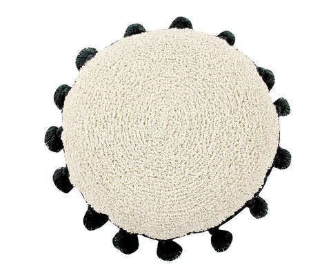 Washable Cushion Circle Black