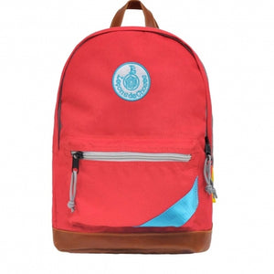 Backpack retro sport red band blue