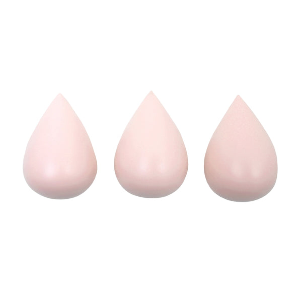 Set of 3 hooks raindrops - light pink