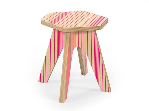 The Milk Stool - Pink fluo Lines