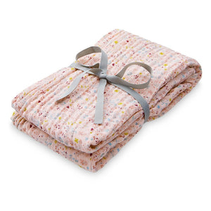 Printed Swaddle, Light - GOTS - Fleur