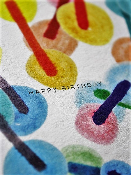 Carte A6 The confettis birthday