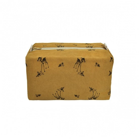 Vic Wash Bag Fawn print