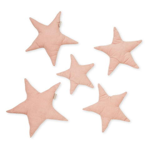 Wall Decoration Set of 5 Stars - OCS - Blossom Pink