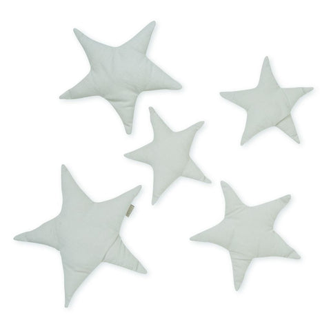 Wall Decoration Set of 5 Stars - OCS - Light Grey