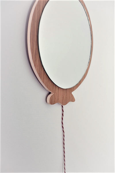 Wooden balloon Mirror