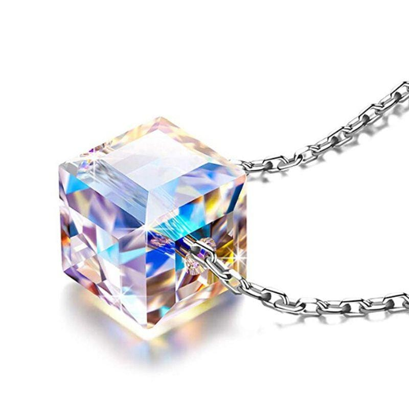 Sparkling Aurora Borealis Crystal Necklace - Jennifer Stone Co.