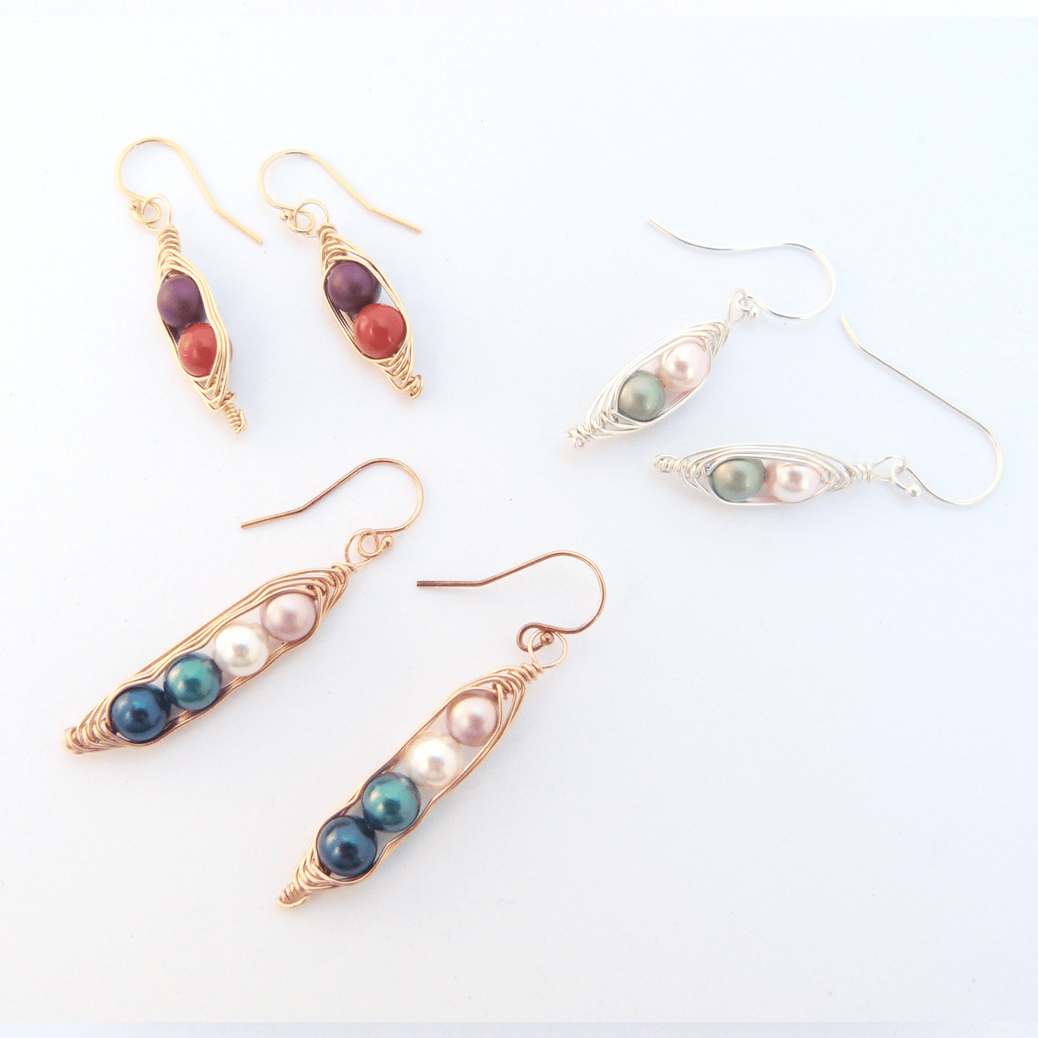 Personalized Peas In A Pod Earrings - Jennifer Stone Co.