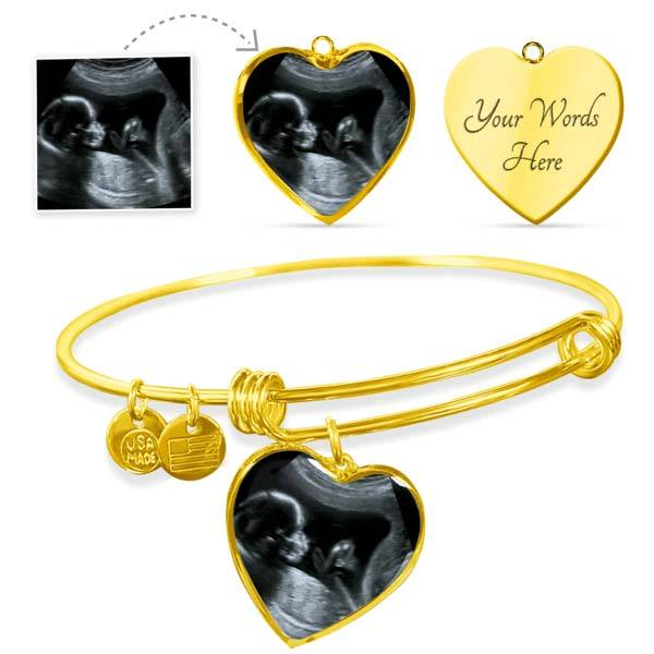New Mom Bracelet -  Personalized Ultrasound Jewelry