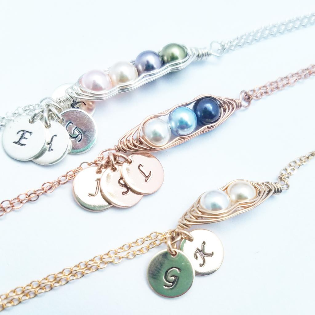 Personalized Peas In A Pod Bracelet