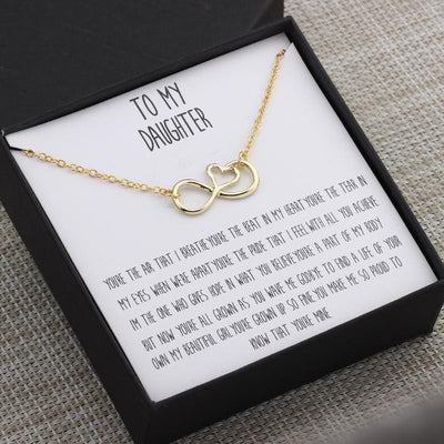 To My Daughter Infinity Love Necklace - Jennifer Stone Co.