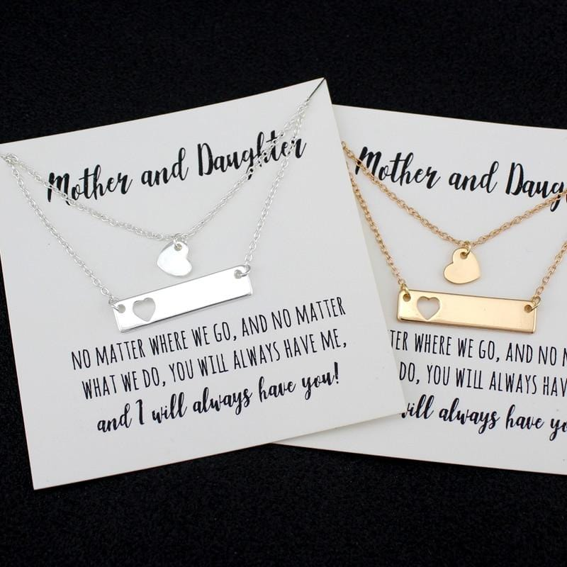 Mother and Daughter Bar Necklace