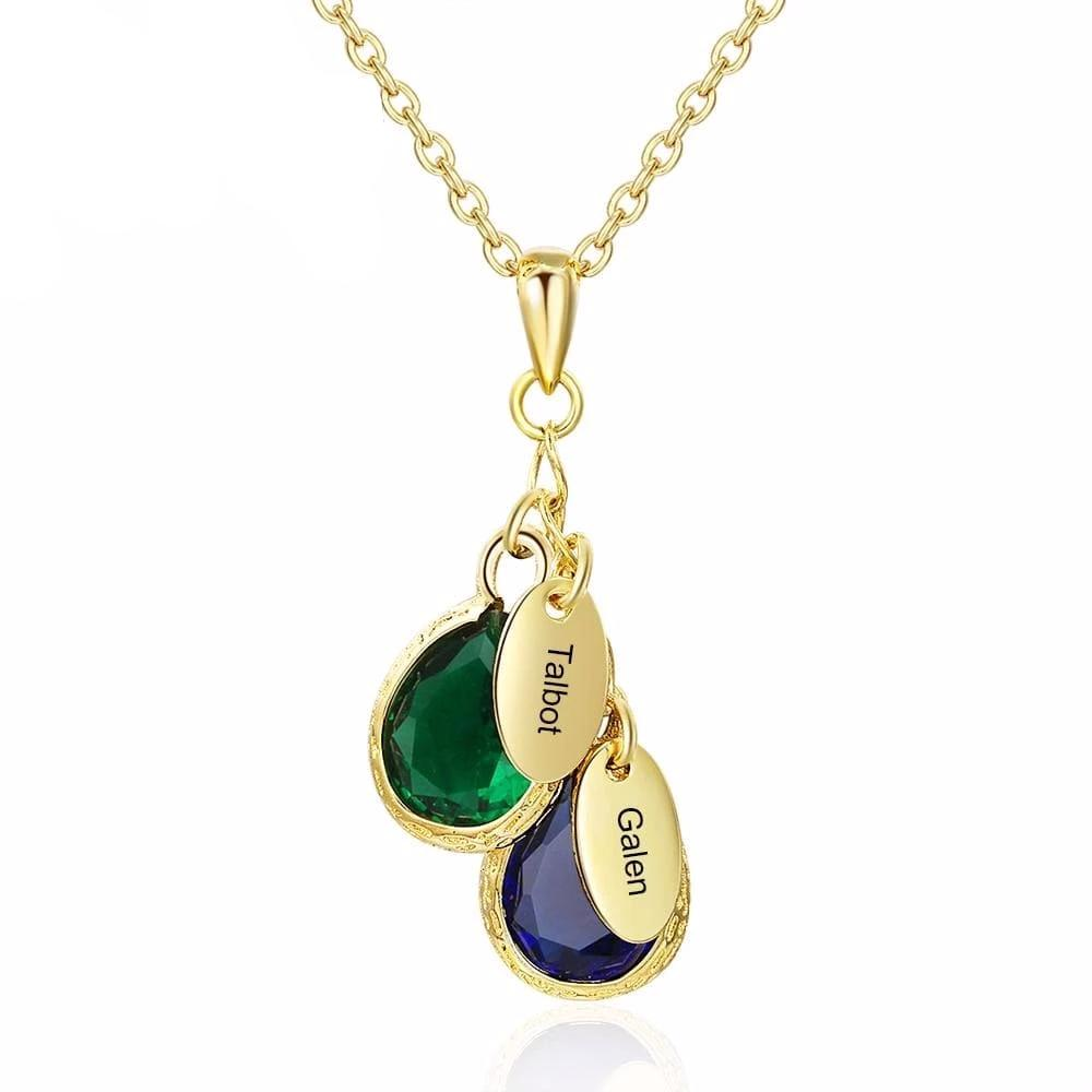 Personalized Birthstone Drop Necklace