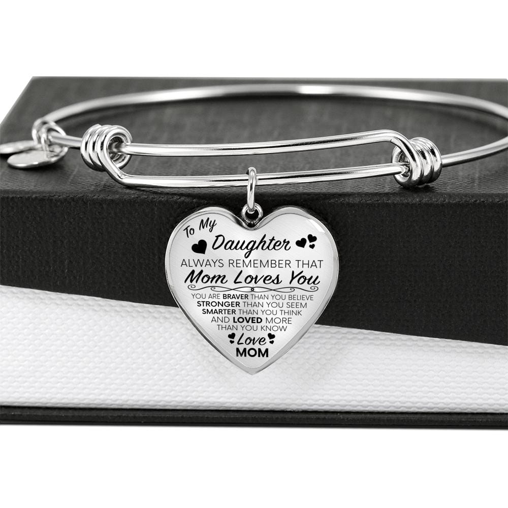 To My Daughter (From Mom) Luxury Charm Bracelet