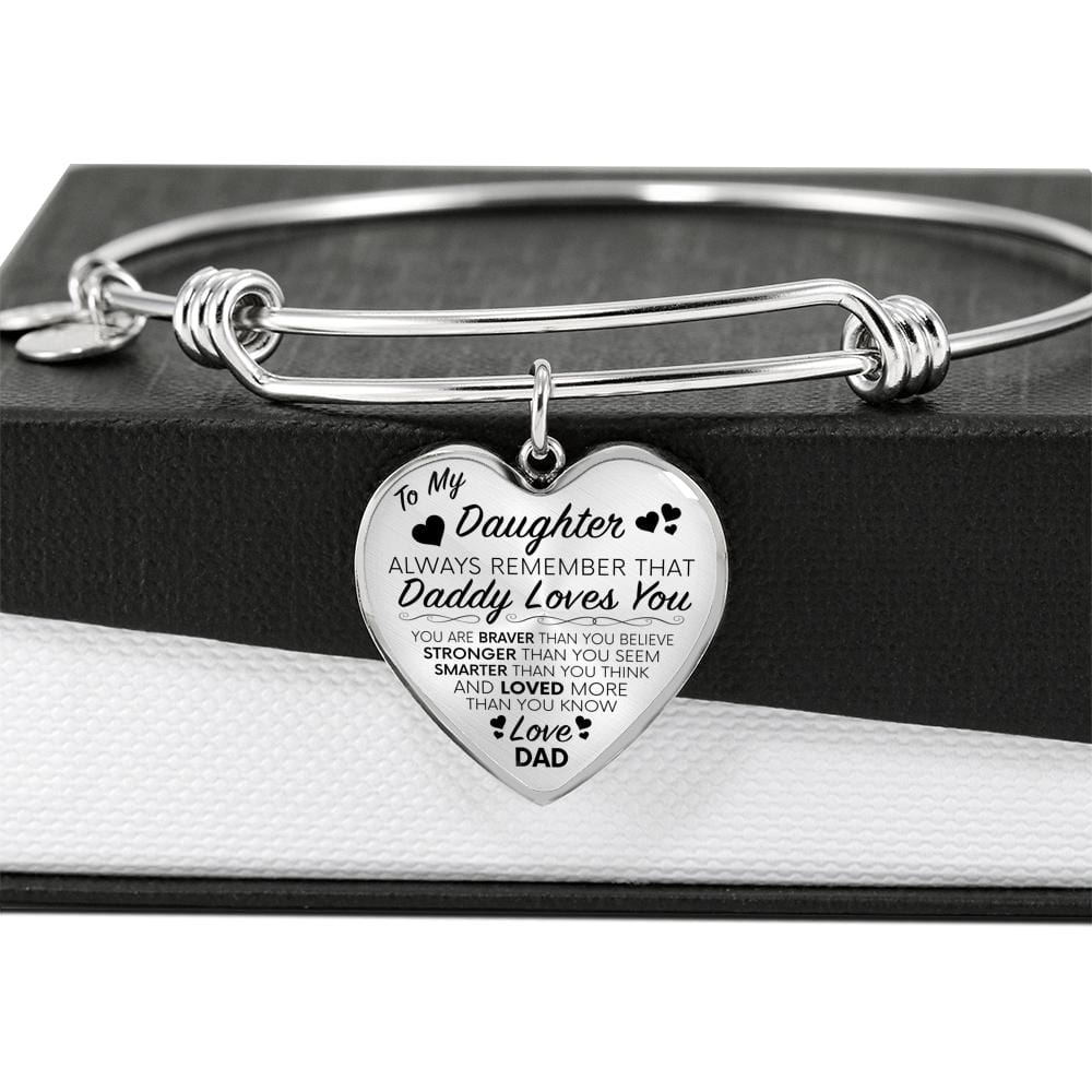 To My Daughter (From Father) Luxury Charm Bracelet