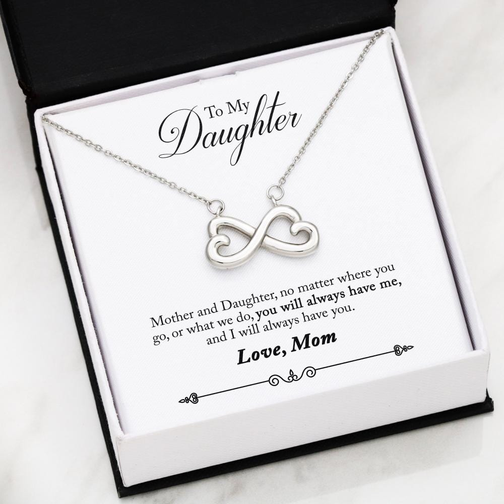 """To My Daughter"" Infinity Love Necklace (From Mom) - Jennifer Stone Co."