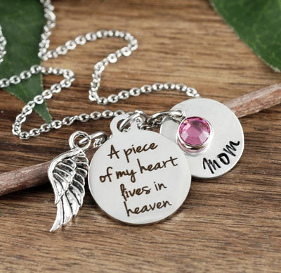 Personalized A Piece Of My Heart Necklace - Jennifer Stone Co.