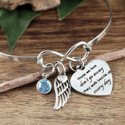 Personalized Walk Beside Us Bangle Bracelet - Jennifer Stone Co.