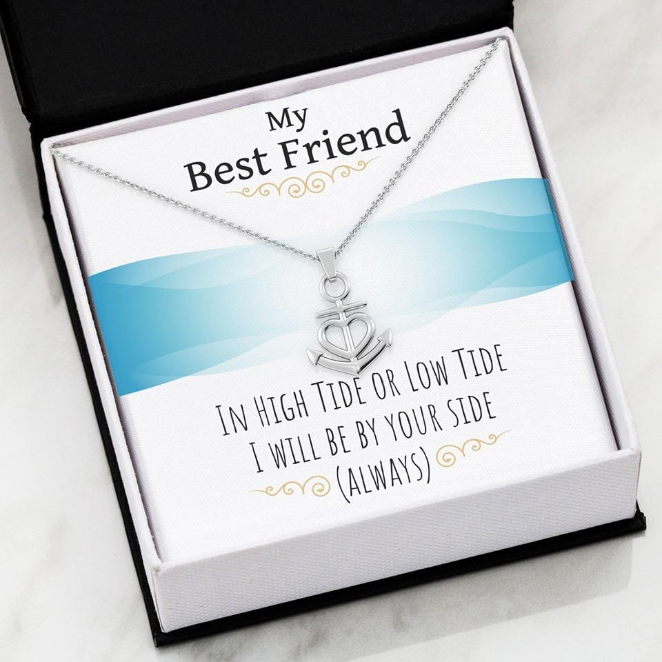 My Best Friend Luxury Anchor Necklace - Jennifer Stone Co.