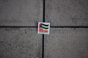 Free Palestine Square Enamel Pin Badge