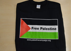 'Free Palestine Flag' T-shirt (black)