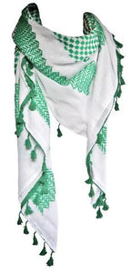 Original Hirbawi Green and White Keffiyeh