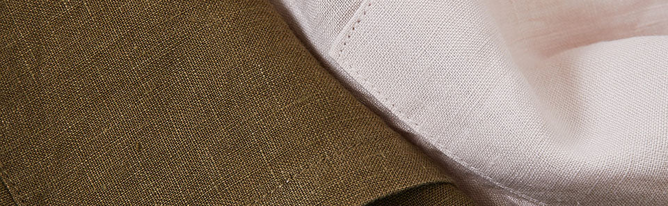 close up of linen aprons