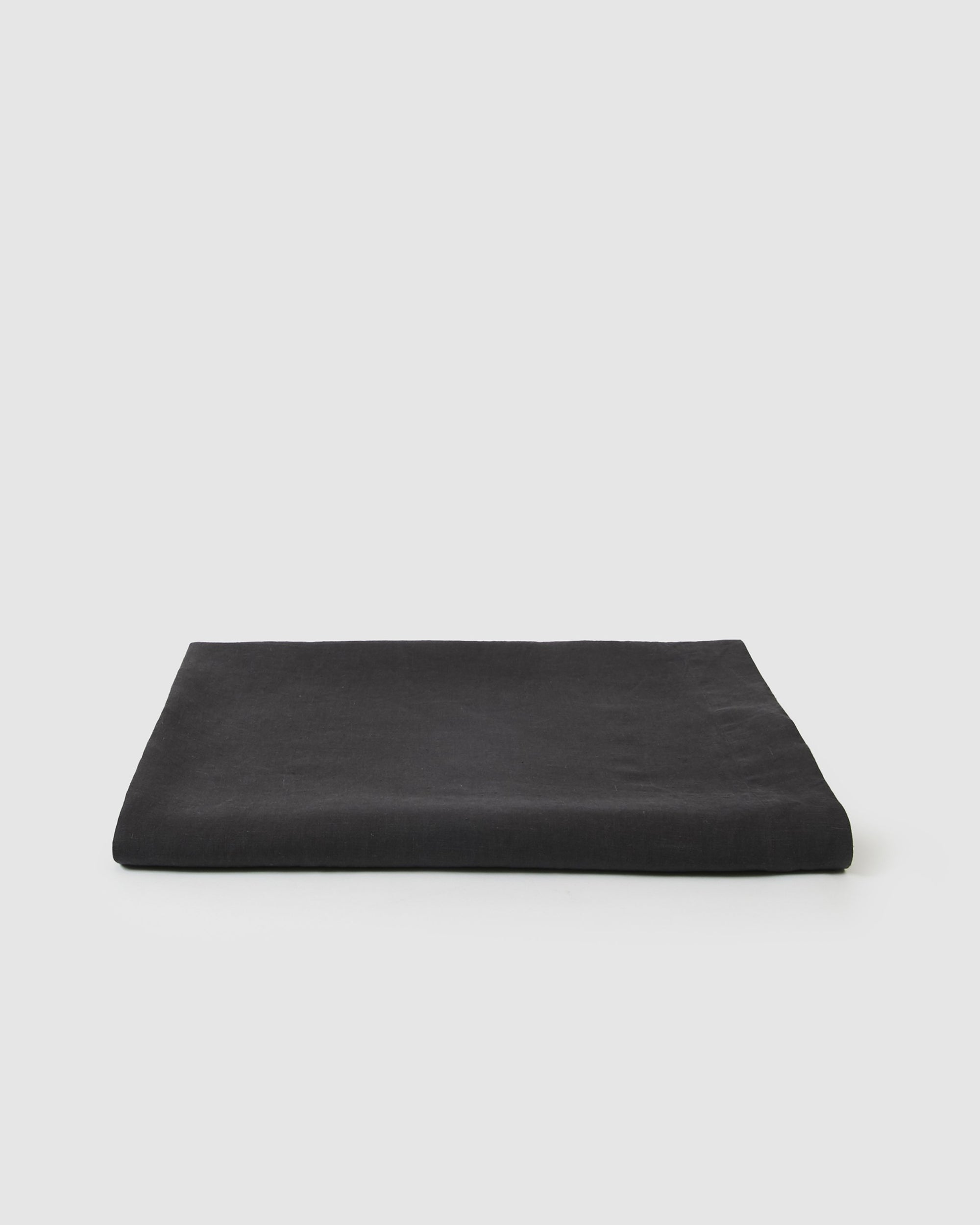 Babette Linen Tablecloth in Charcoal Gray