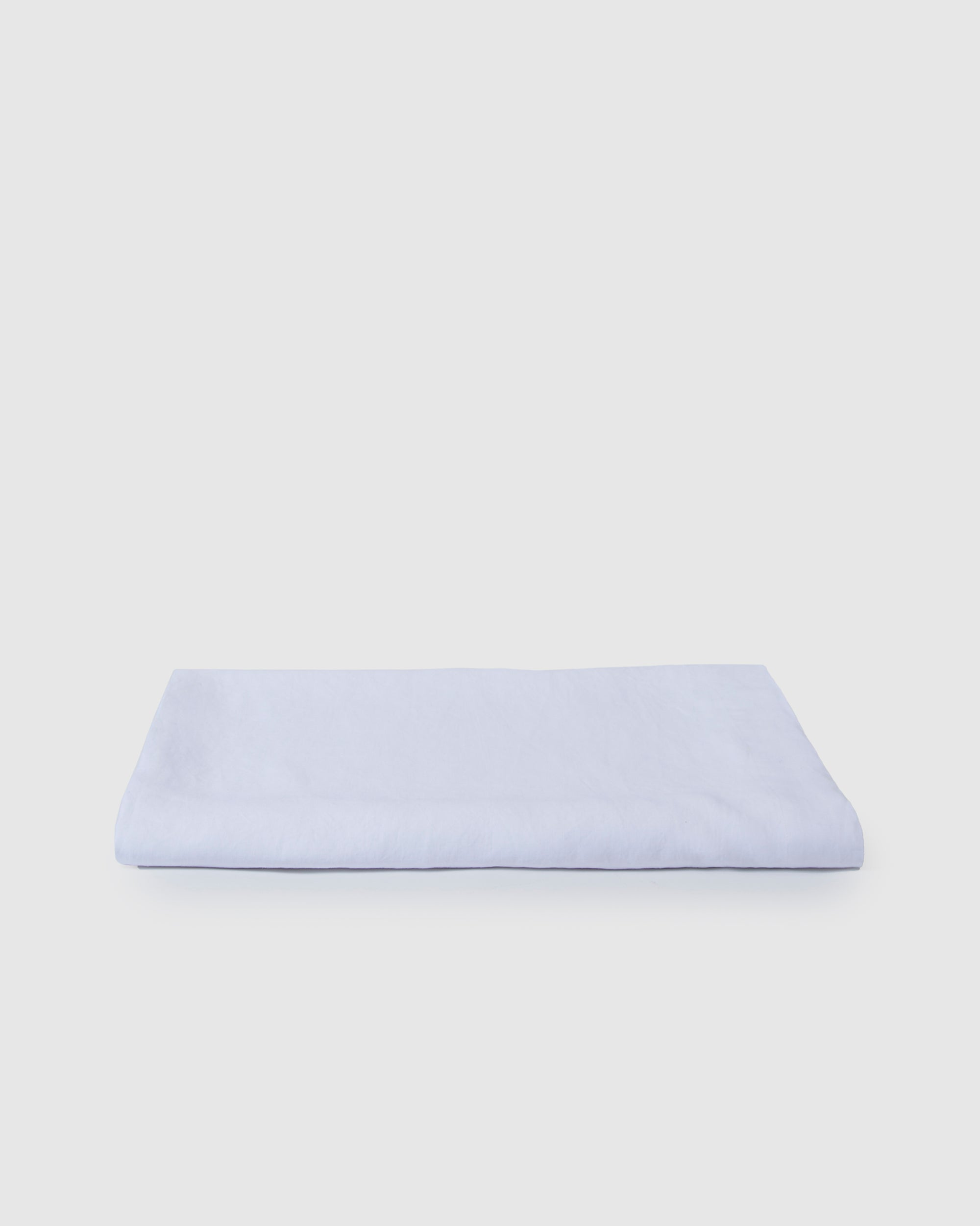 Babette Linen Tablecloth in Milk White