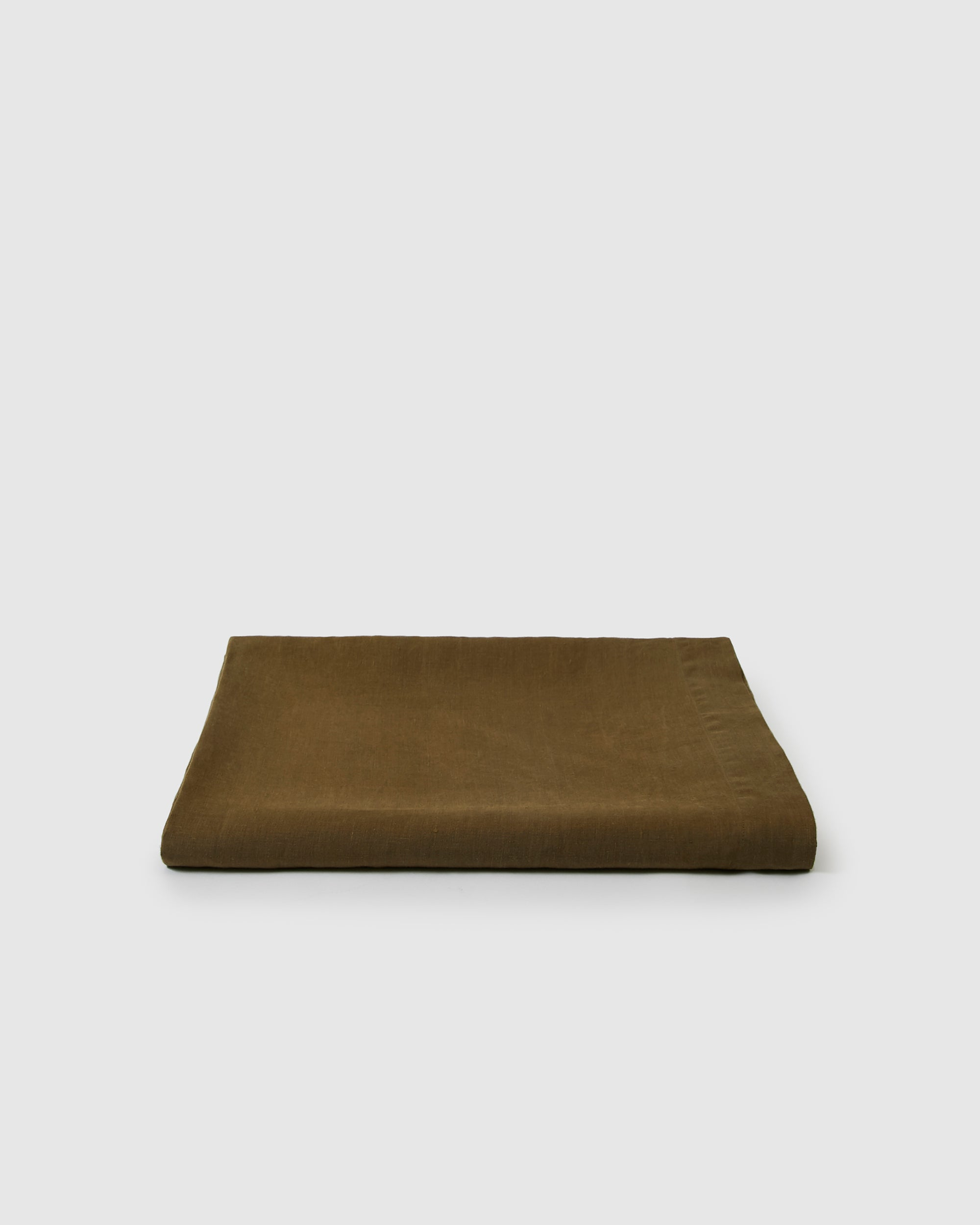 Babette Linen Tablecloth in Moss Green