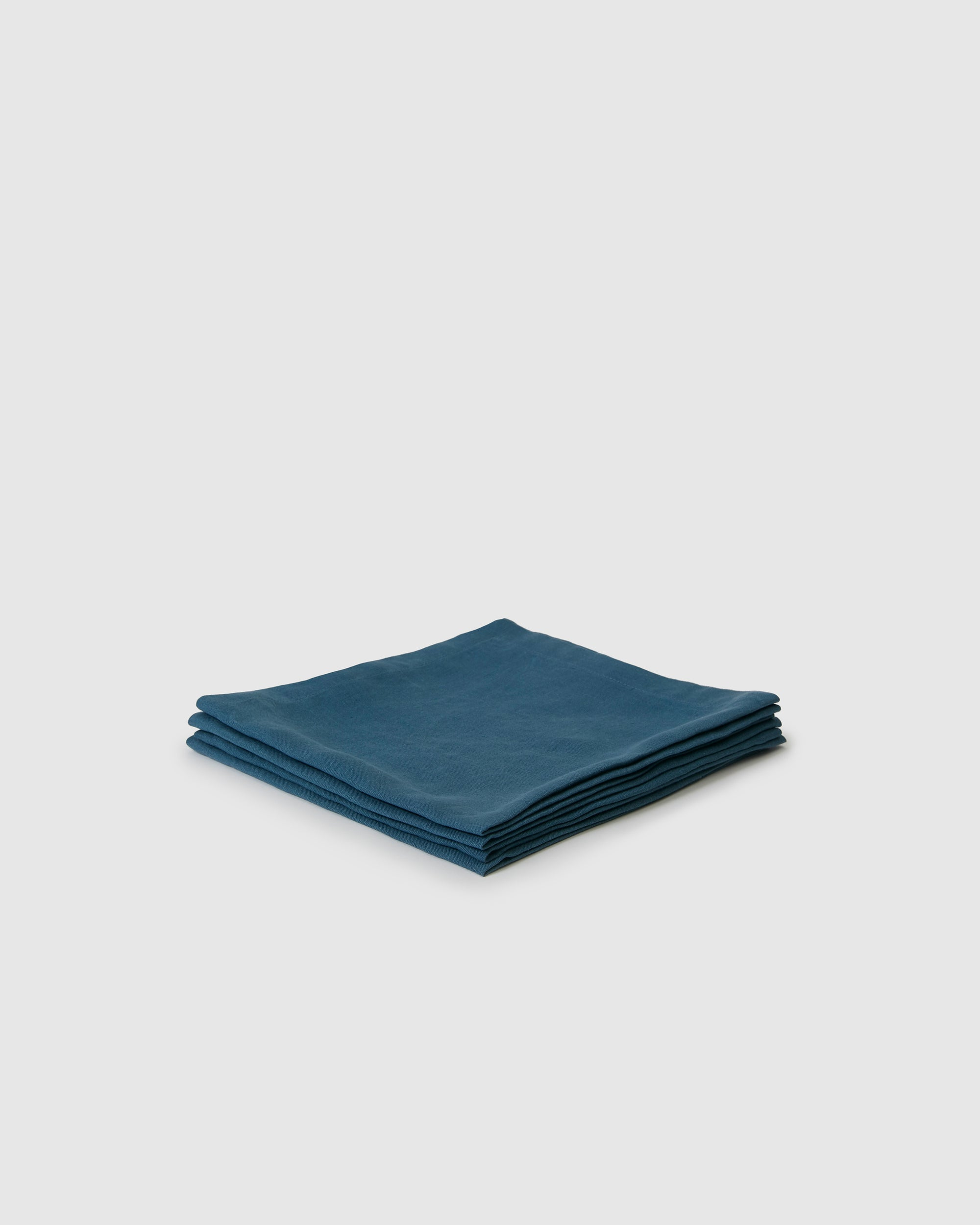 Berkeley Linen Table Napkins (Set of 4) - Adriatic