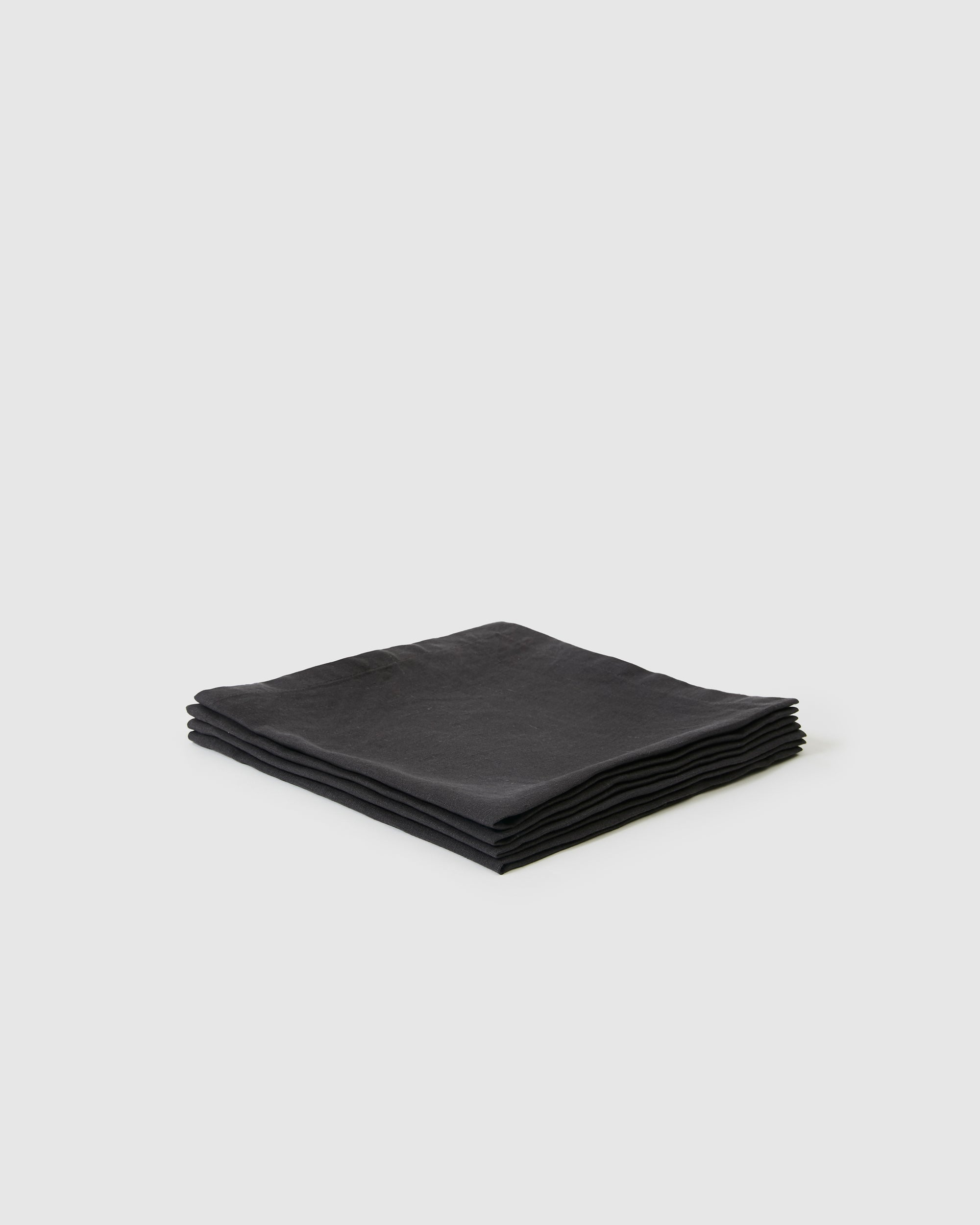 Berkeley Linen Table Napkins (Set of 4) - Charcoal