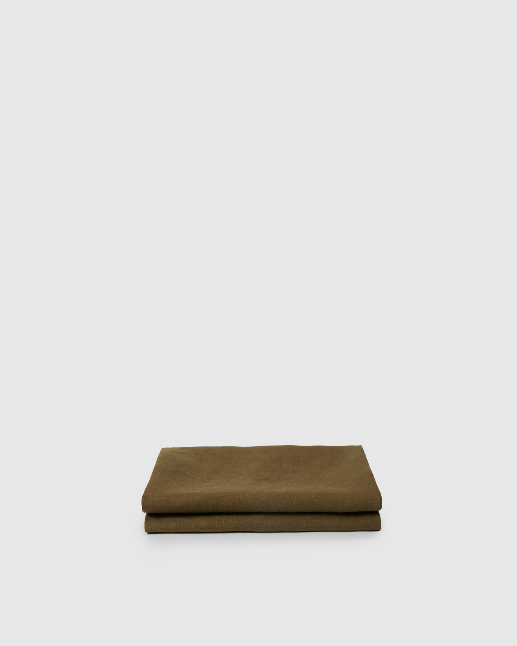 Marcel Linen Fitted Sheet - Moss
