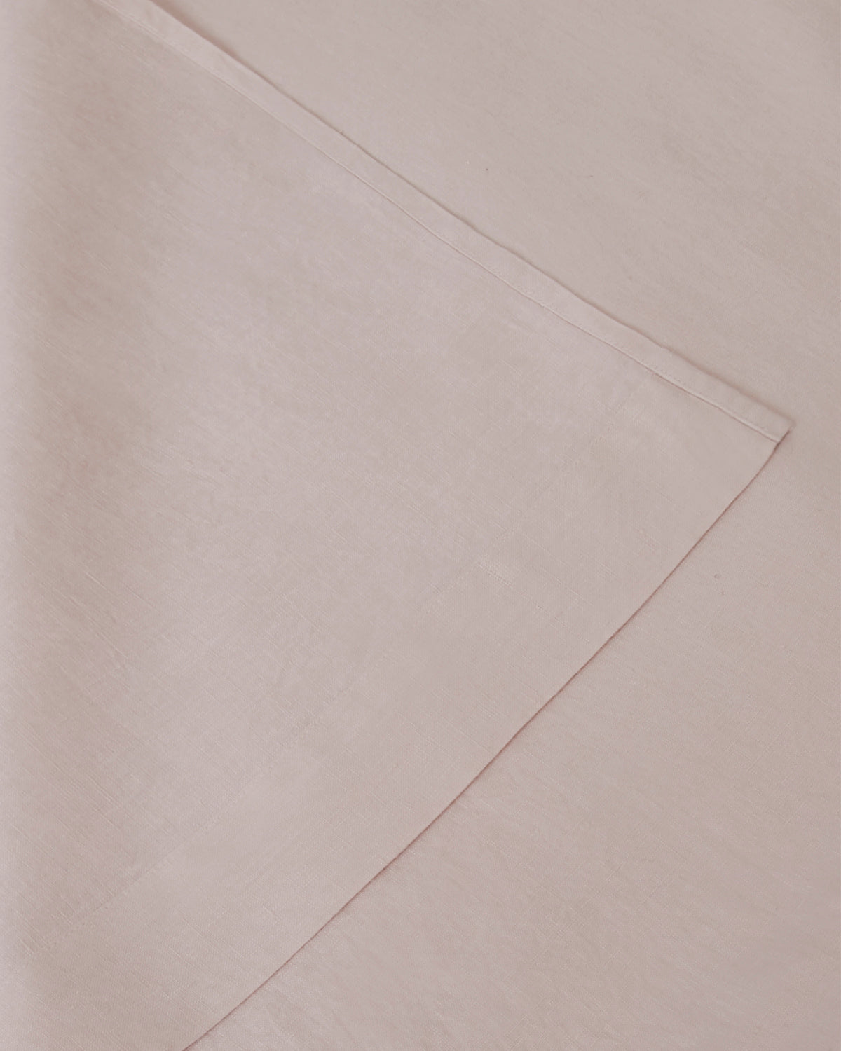 Marcel Linen Fitted Sheet - Blush