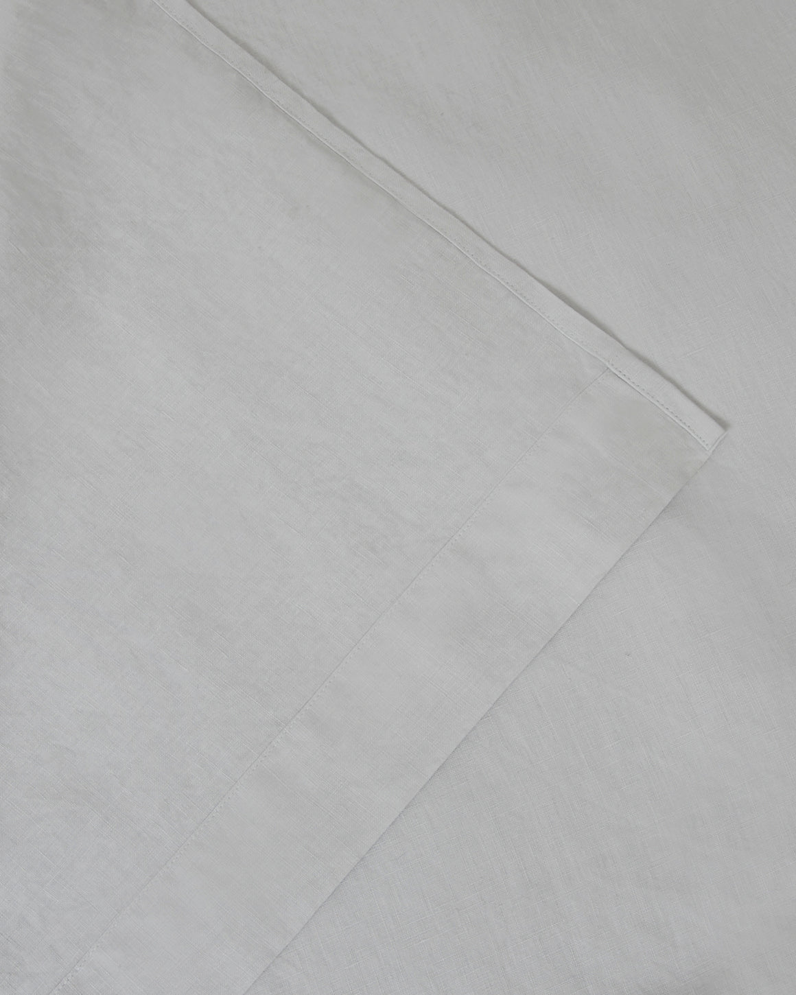 Marcel Linen Fitted Sheet - Glacier