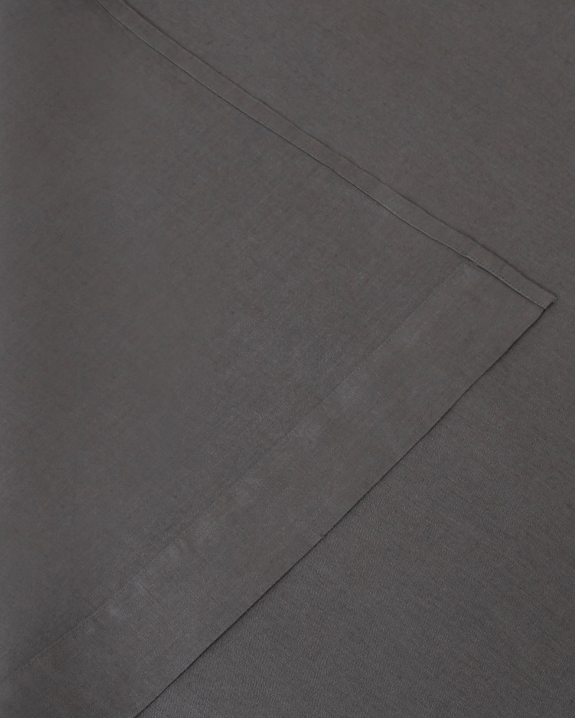 Image of dark gray storm flat and fitted sheet set