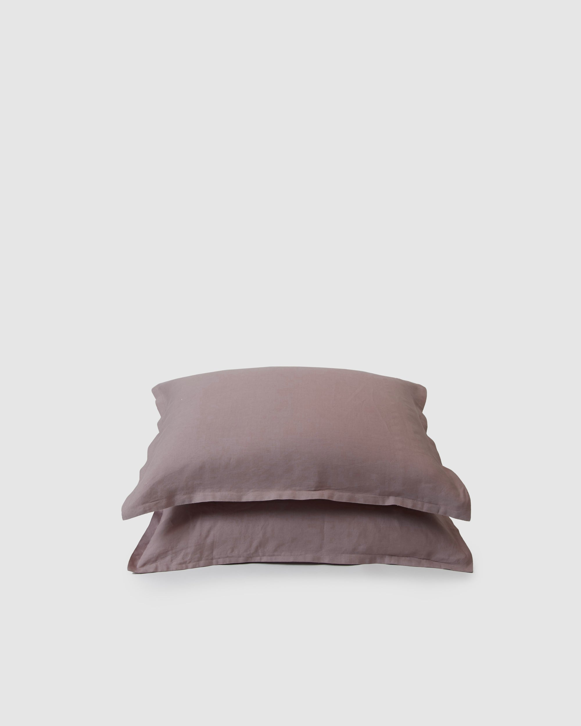Pair of filled pillowcases in orchid (dark dusty pink)