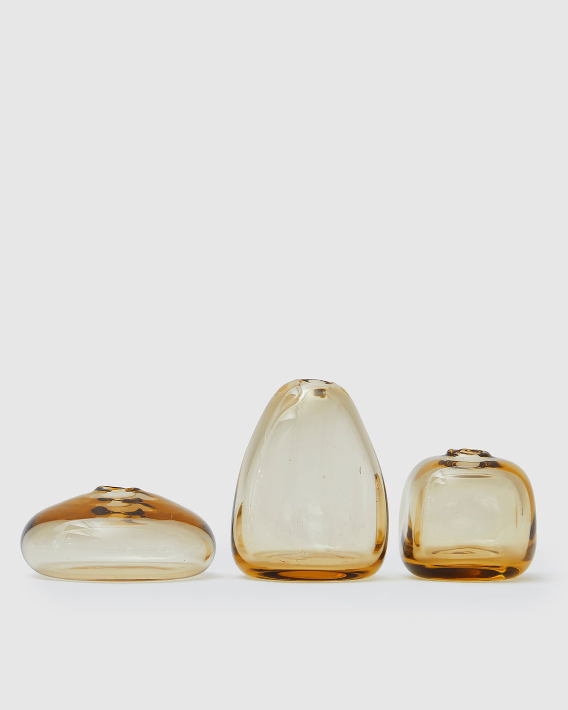 Trio of Kelly Bud Vases - Honey