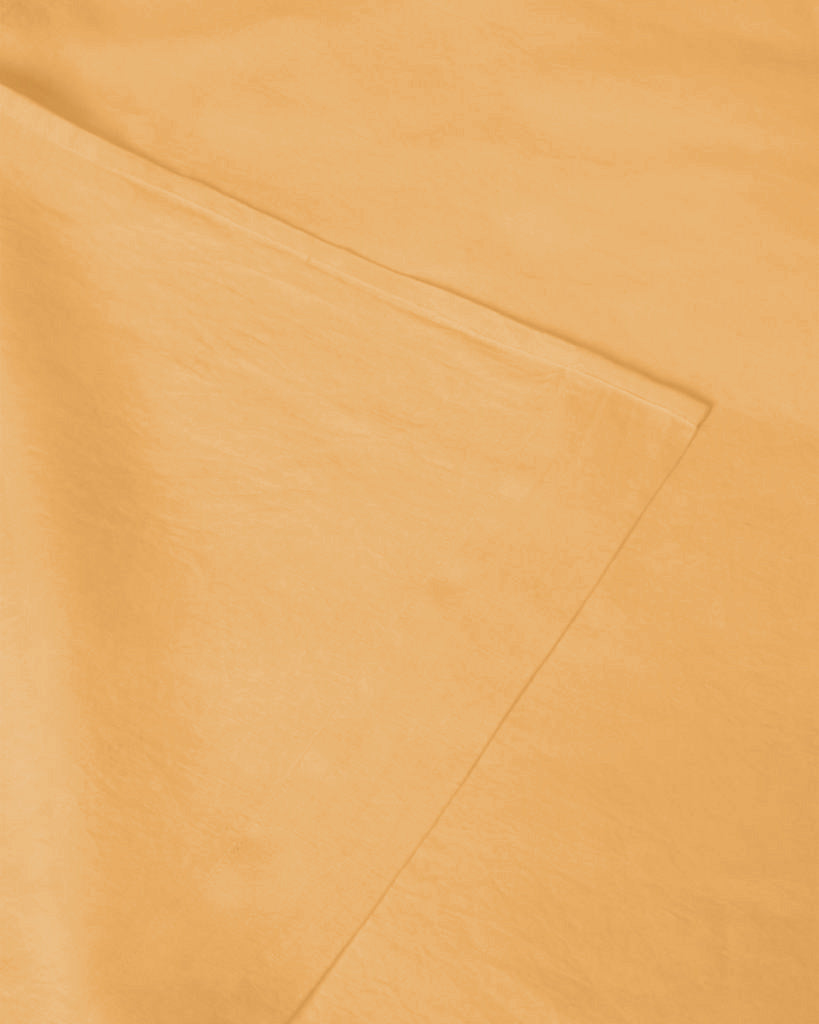 Marcel Linen Fitted Sheet - Mustard