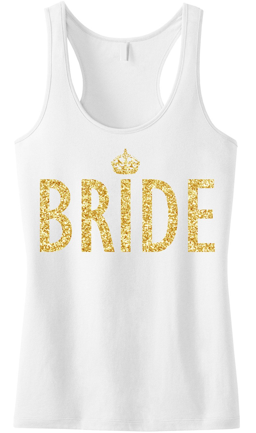 BRIDE Gold GLITTER Tank Top