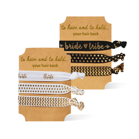 Bride Tribe Elastic Hair Ties ~ The perfect bridesmaid gift idea