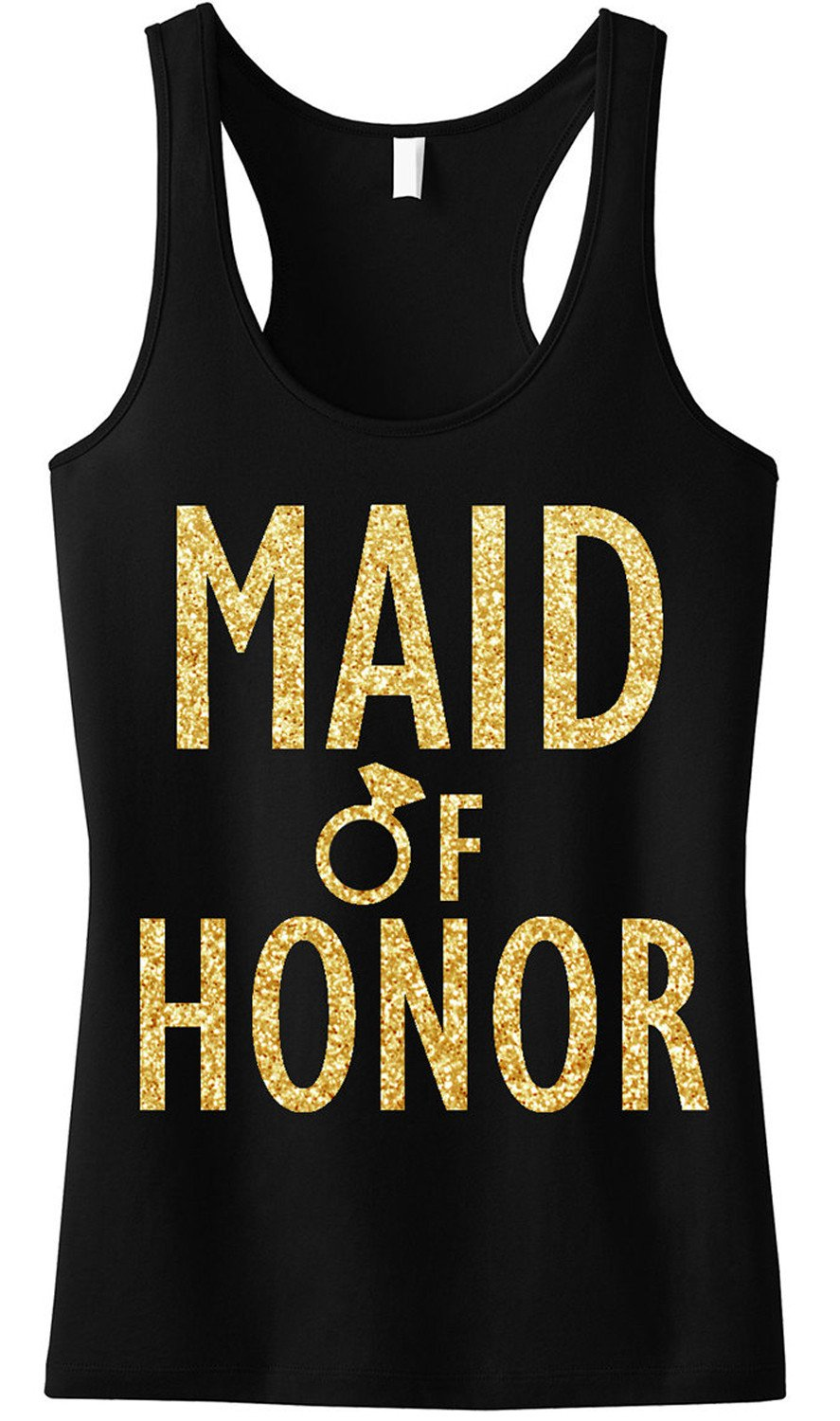 MAID of HONOR Gold GLITTER Tank Top